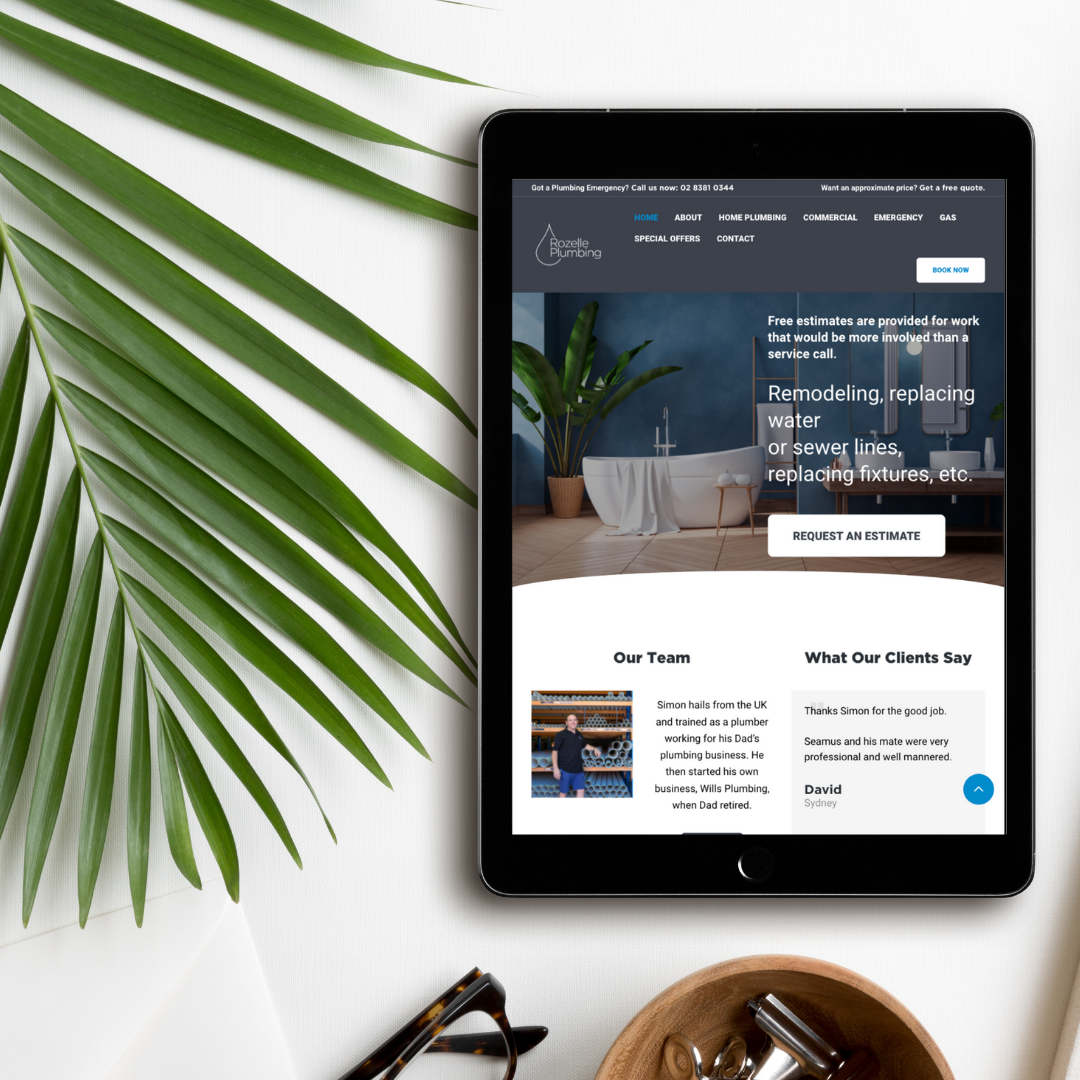 Plumbing Services on WordPress